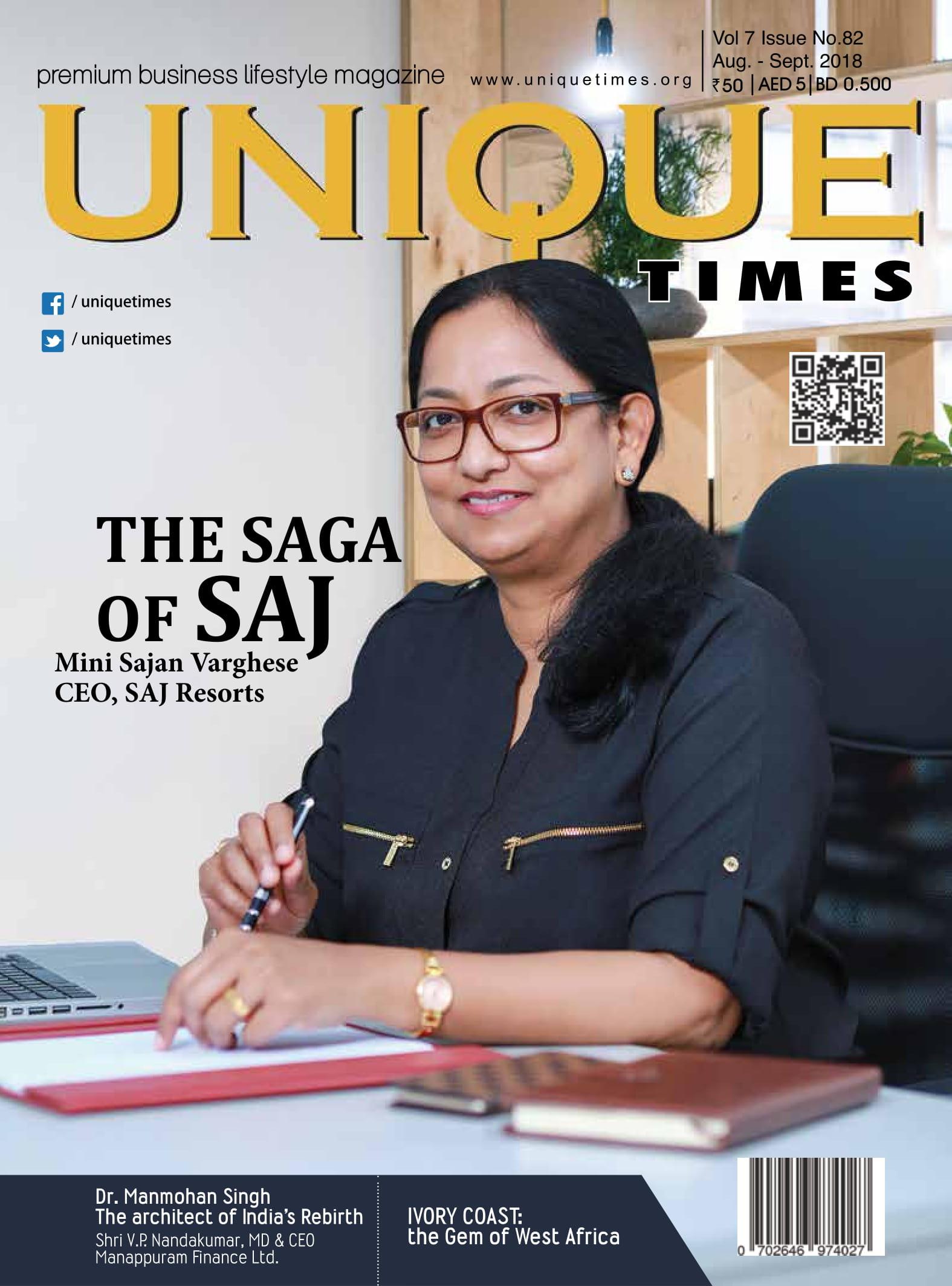 Mini Sajan Varghese, CEO - Saj Resorts