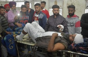 A man injured in Sunday's blast in Punjab