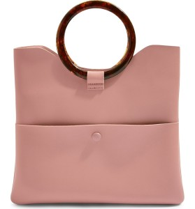 Topshop cookie faux leather clutch